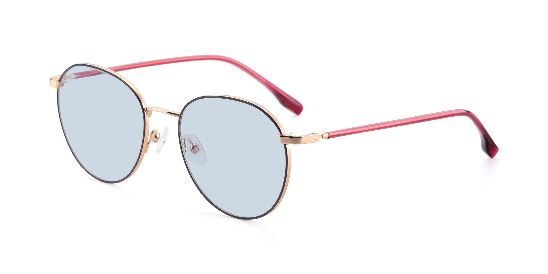 Angle of 9553 in Purple-Gold with Light Blue Tinted Lenses