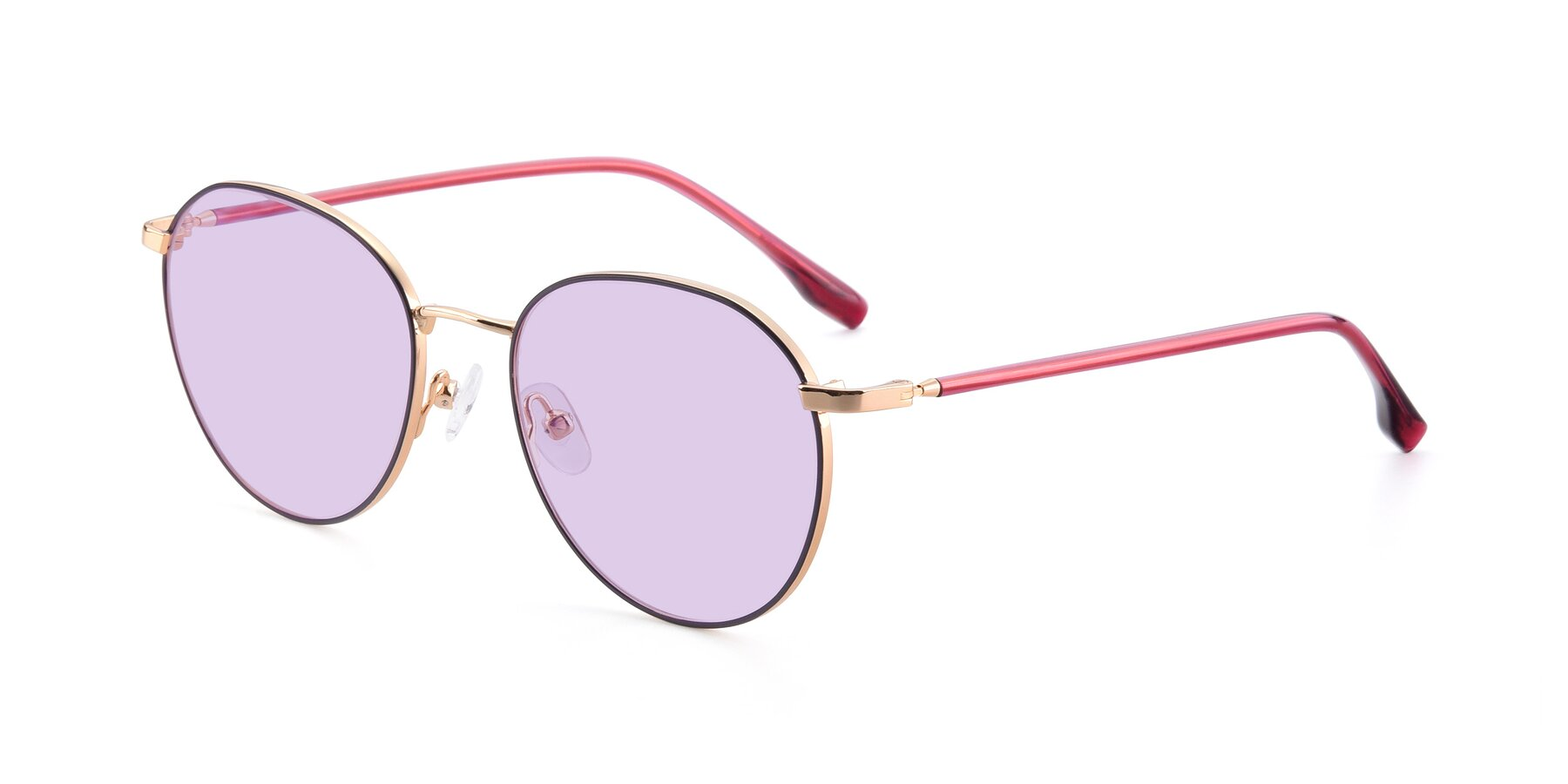 Angle of 9553 in Purple-Gold with Light Purple Tinted Lenses