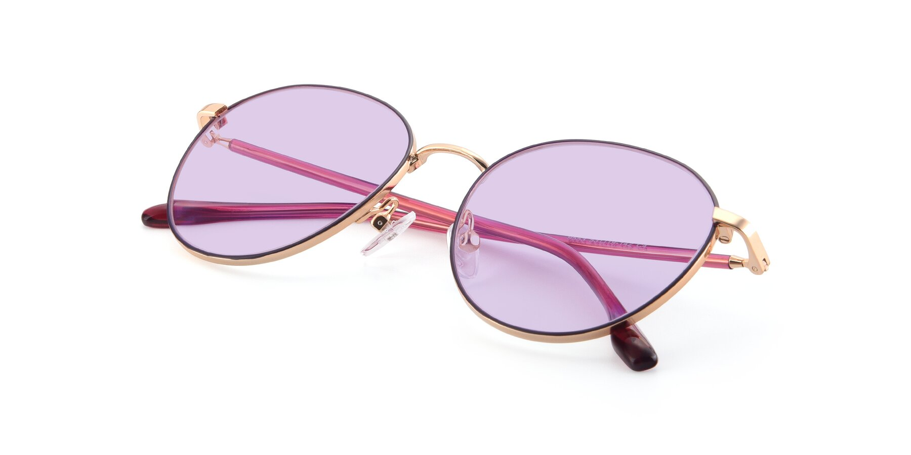 View of 9553 in Purple-Gold with Light Purple Tinted Lenses