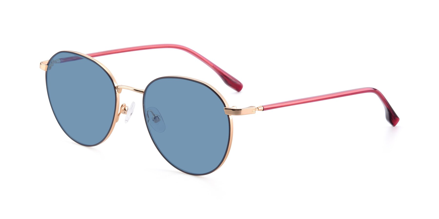Angle of 9553 in Purple-Gold with Medium Blue Tinted Lenses
