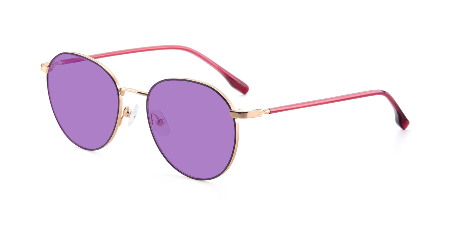 Angle of 9553 in Purple-Gold with Medium Purple Tinted Lenses