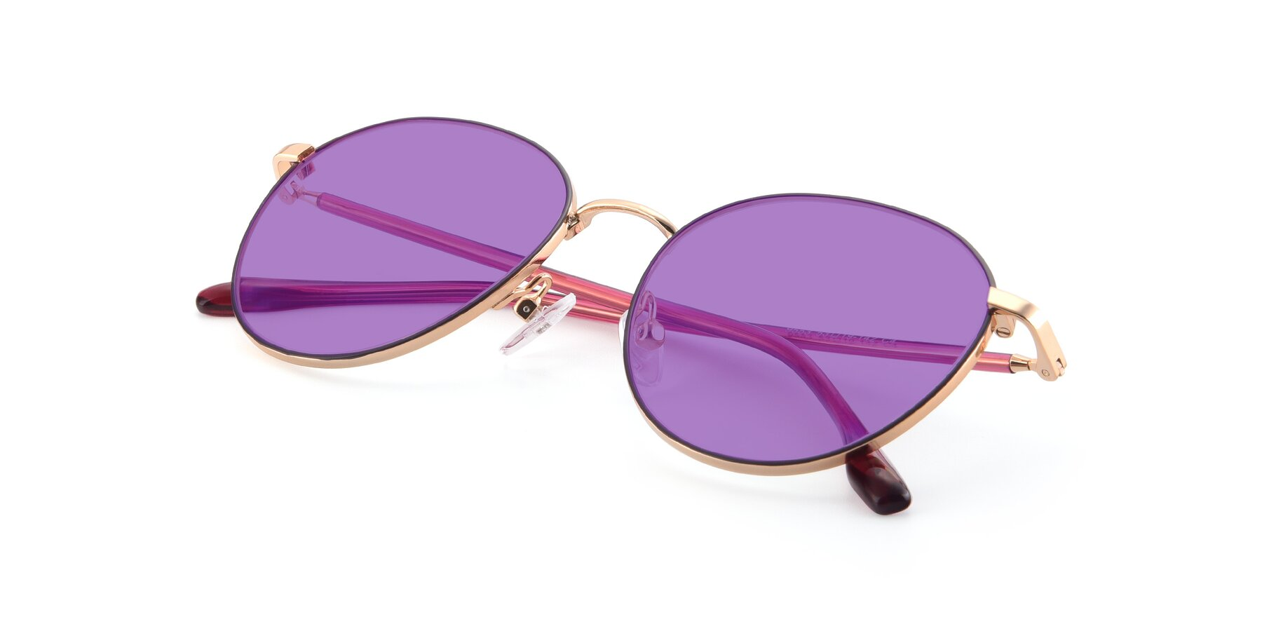 View of 9553 in Purple-Gold with Medium Purple Tinted Lenses