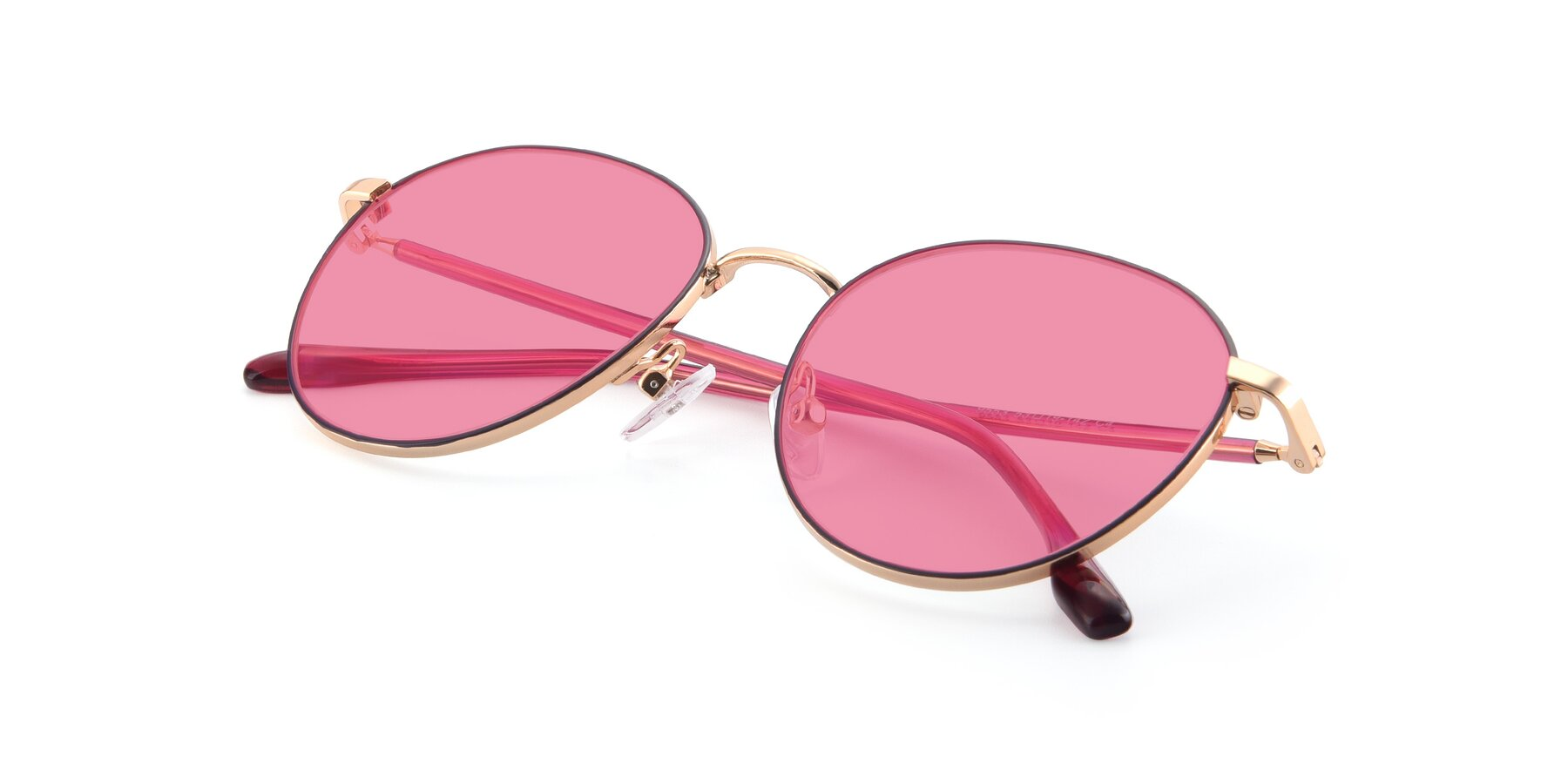 View of 9553 in Purple-Gold with Pink Tinted Lenses