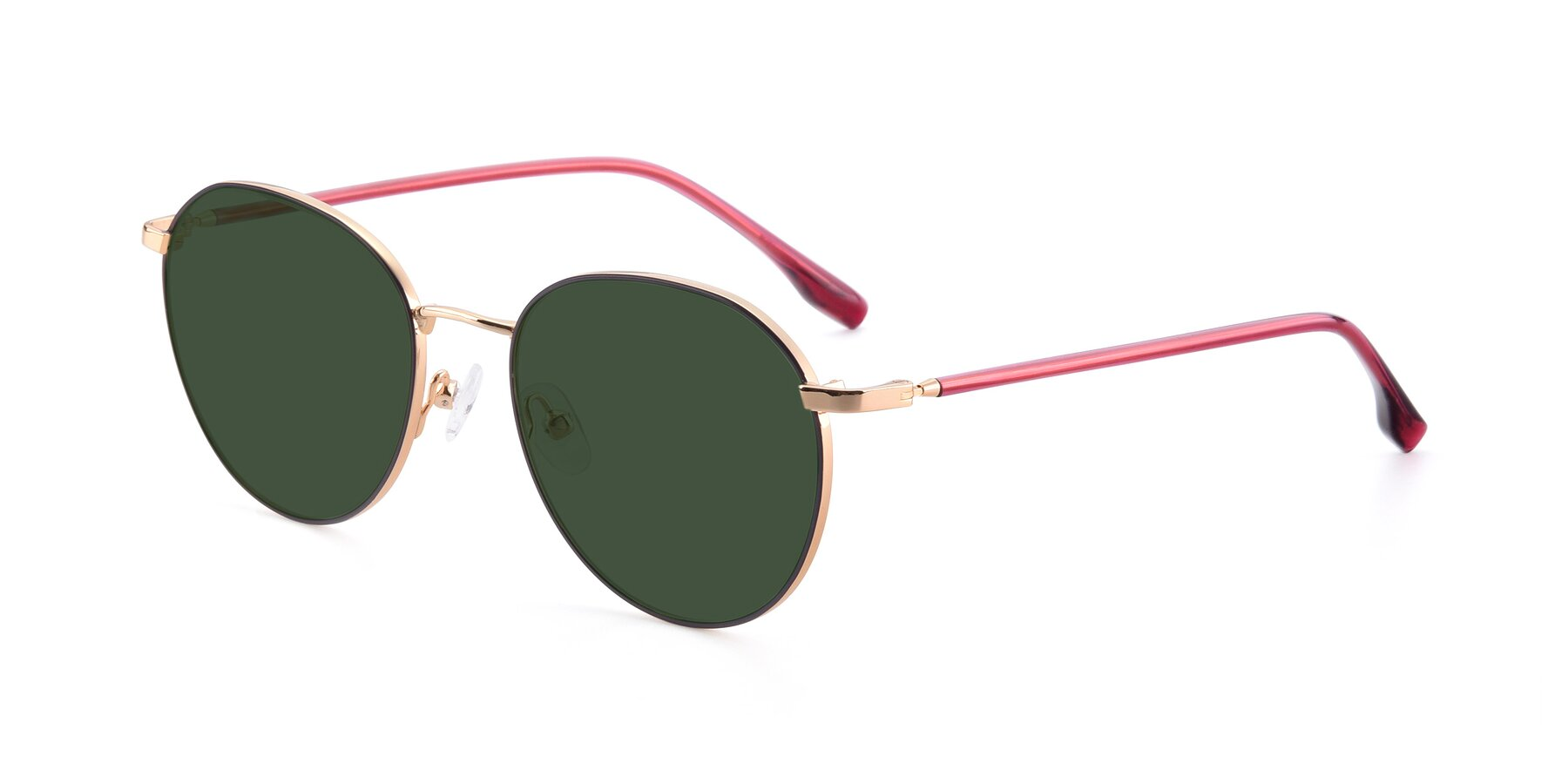 Angle of 9553 in Purple-Gold with Green Tinted Lenses