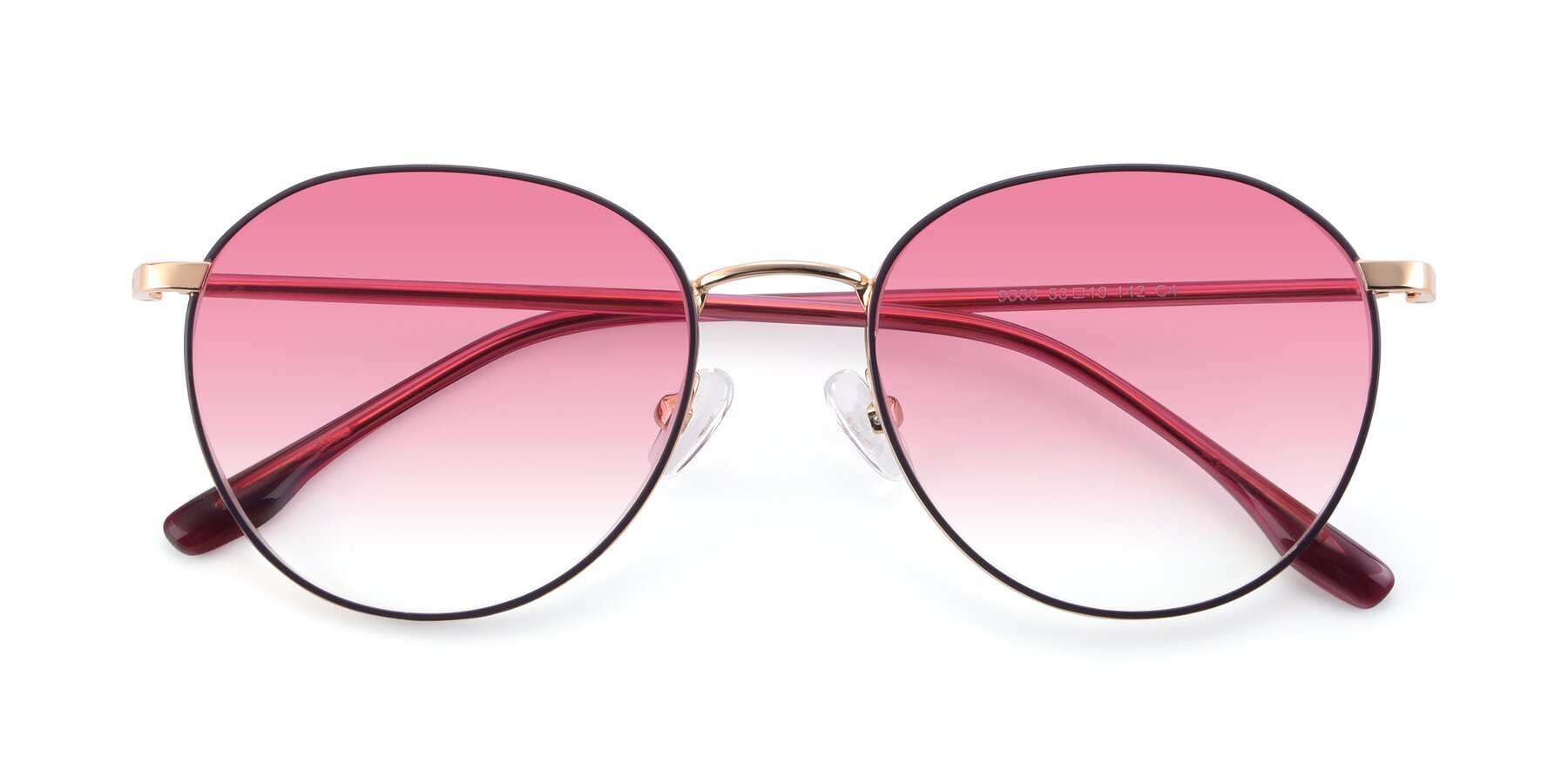 Folded Front of 9553 in Purple-Gold with Pink Gradient Lenses
