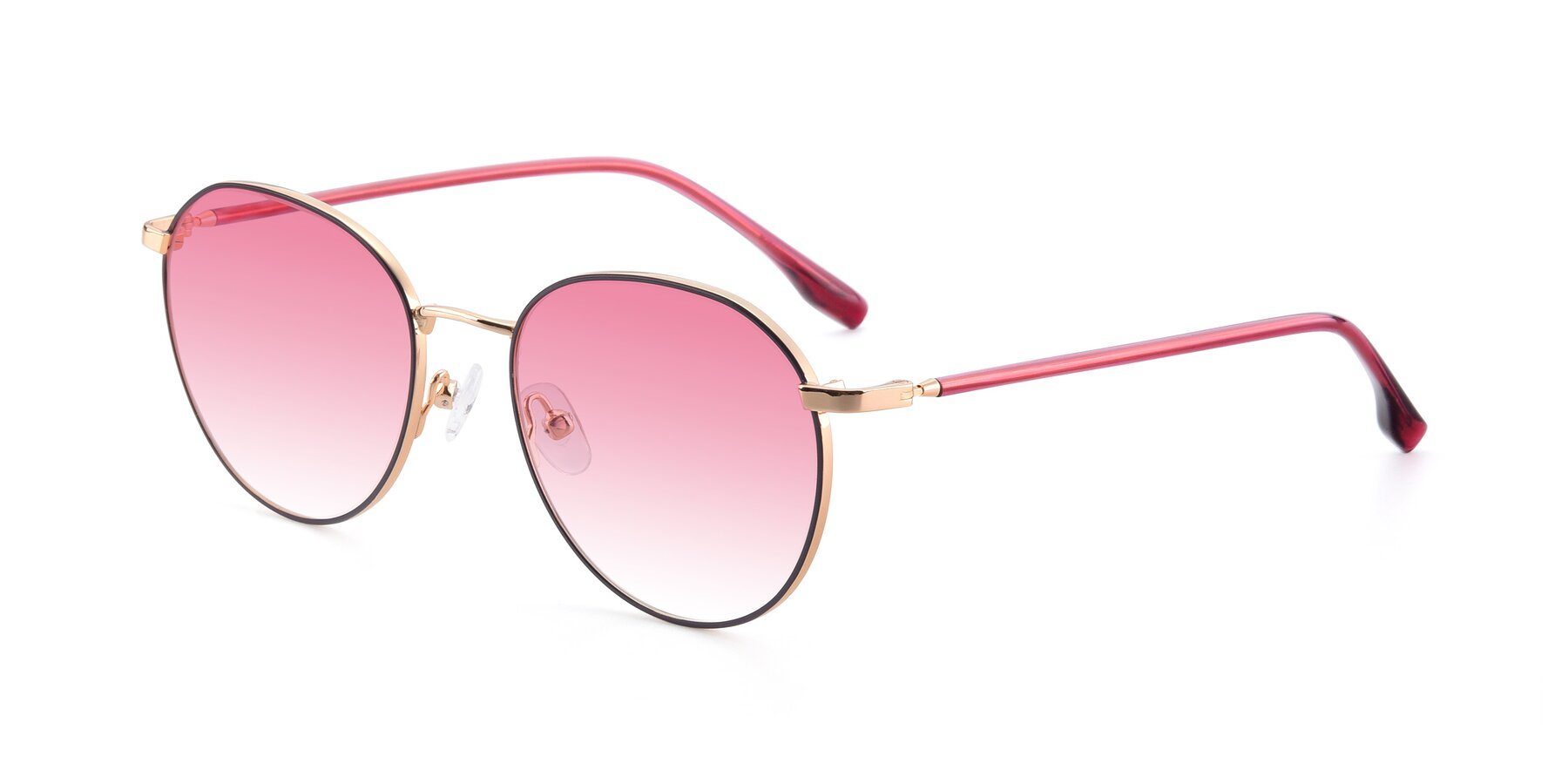 Angle of 9553 in Purple-Gold with Pink Gradient Lenses