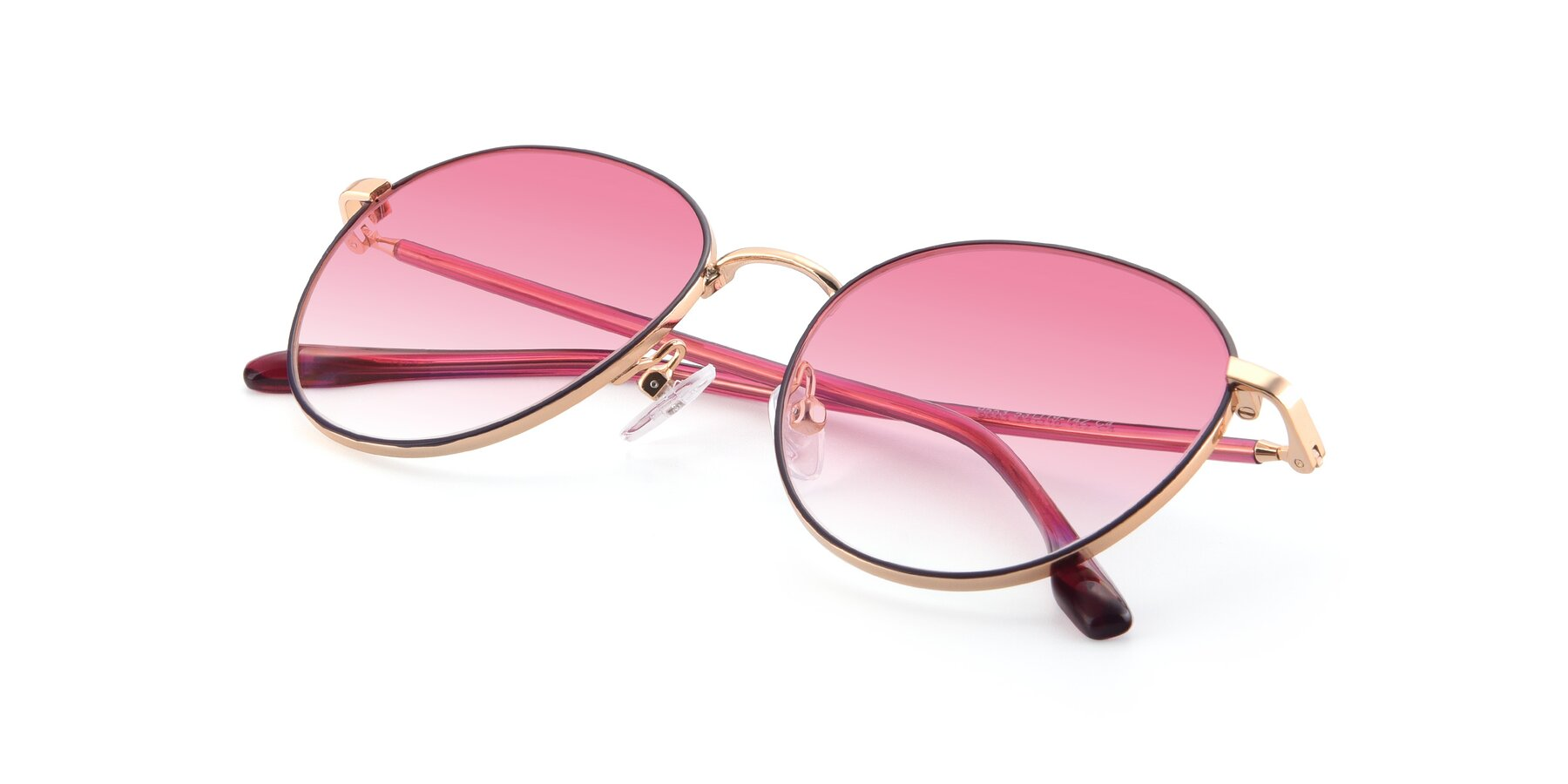 View of 9553 in Purple-Gold with Pink Gradient Lenses