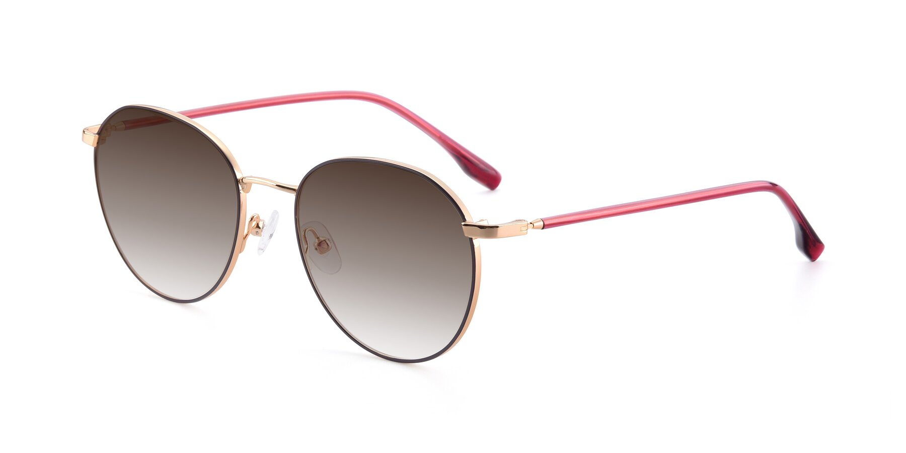 Angle of 9553 in Purple-Gold with Brown Gradient Lenses