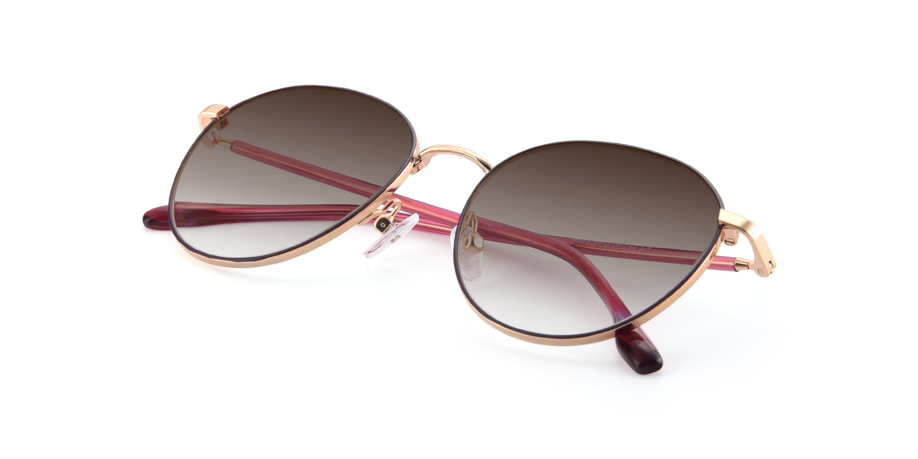 View of 9553 in Purple-Gold with Brown Gradient Lenses