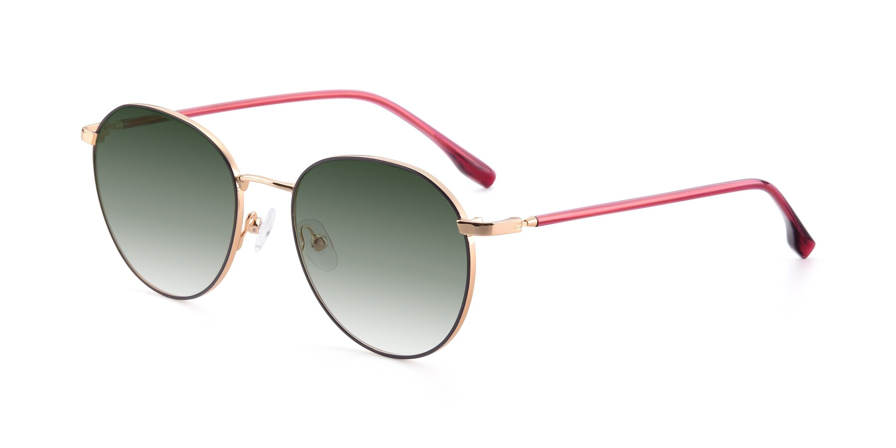 Angle of 9553 in Purple-Gold with Green Gradient Lenses