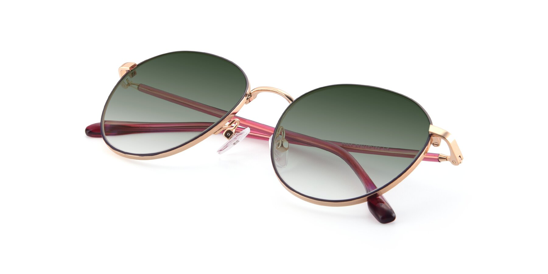 View of 9553 in Purple-Gold with Green Gradient Lenses