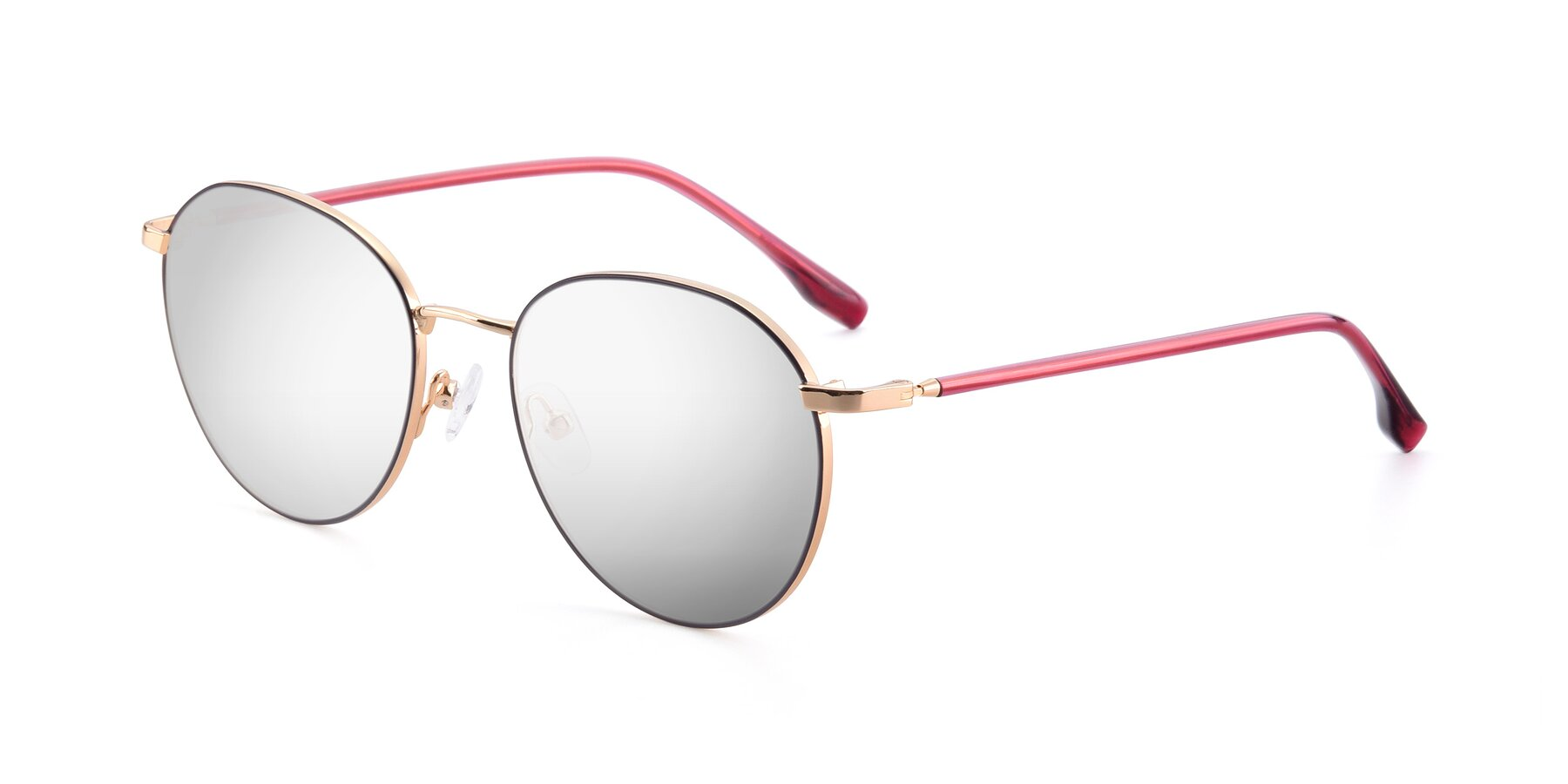 Angle of 9553 in Purple-Gold with Silver Mirrored Lenses