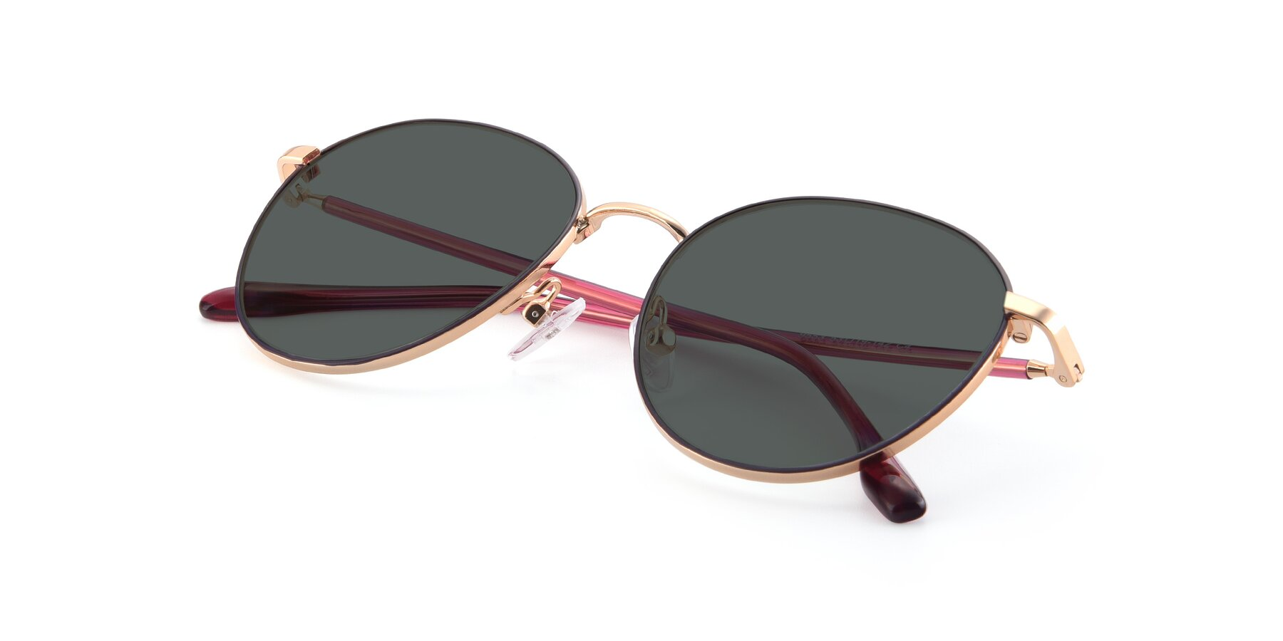 View of 9553 in Purple-Gold with Gray Polarized Lenses