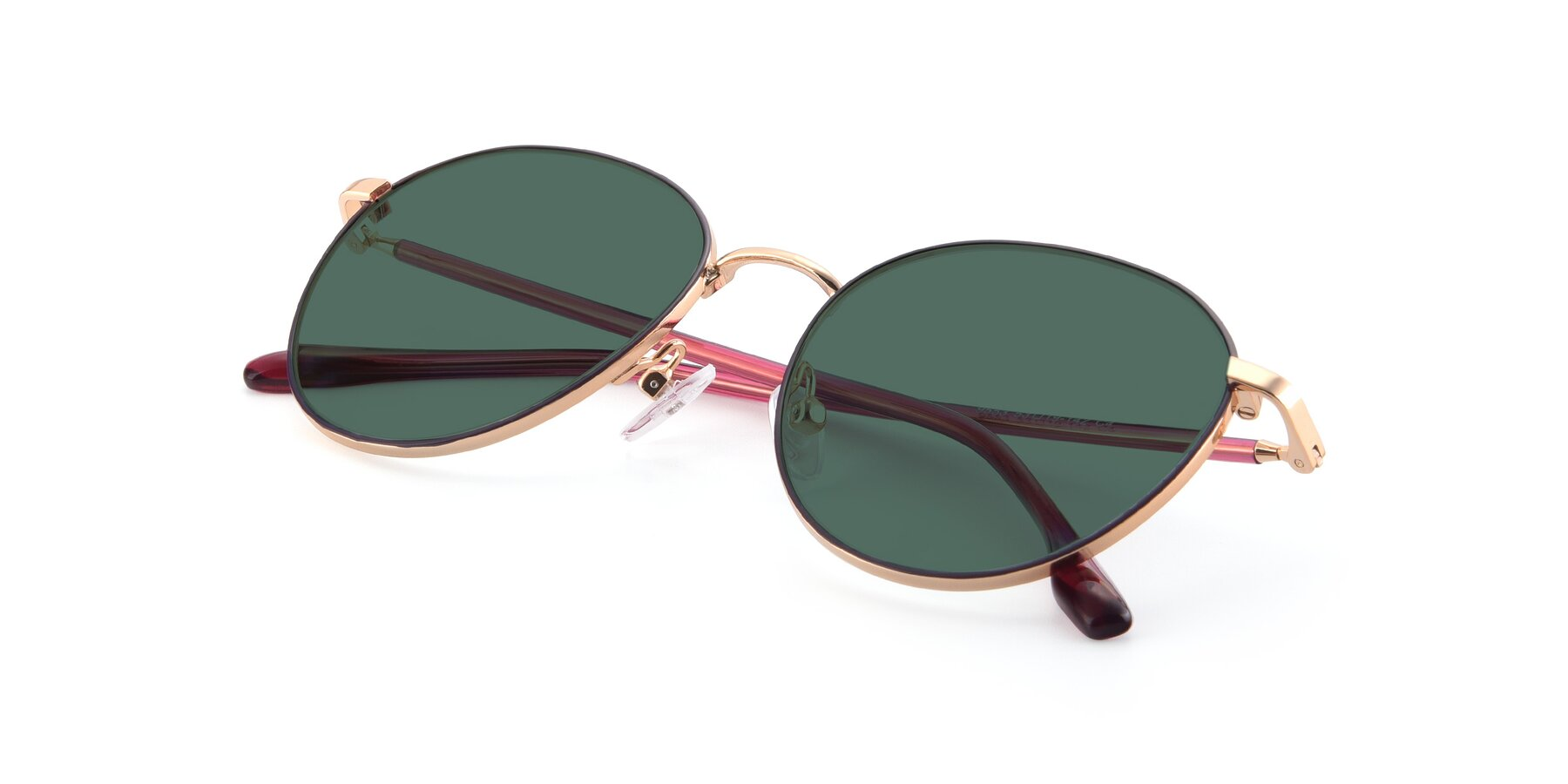 View of 9553 in Purple-Gold with Green Polarized Lenses
