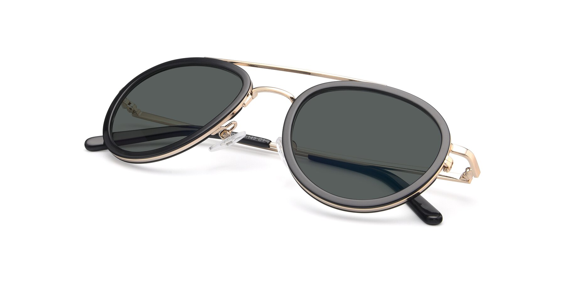 View of 9554 in Black-Gold with Gray Polarized Lenses