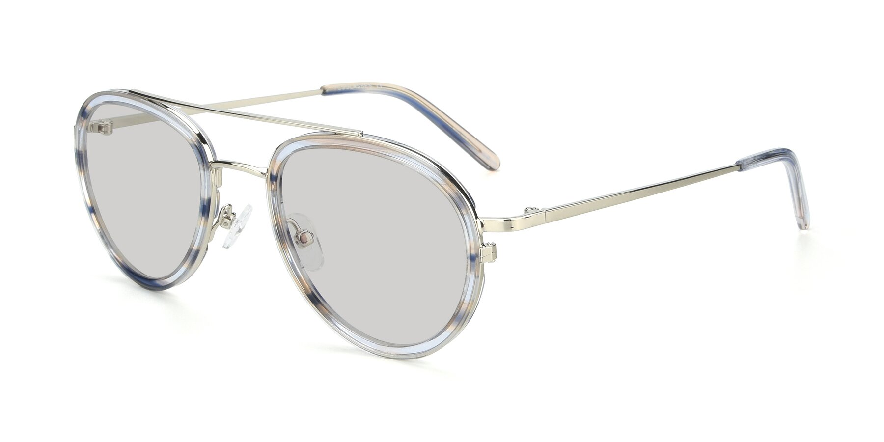 Angle of 9554 in Silver-Transparent with Light Gray Tinted Lenses