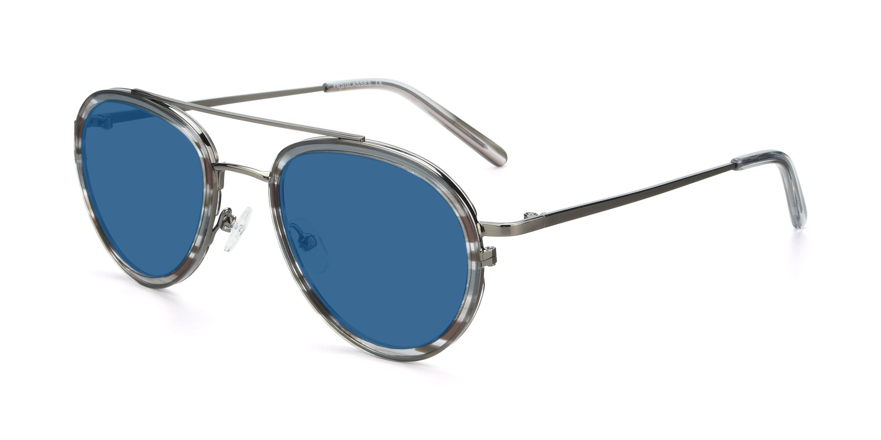 Angle of 9554 in Gun-Transparent with Blue Tinted Lenses