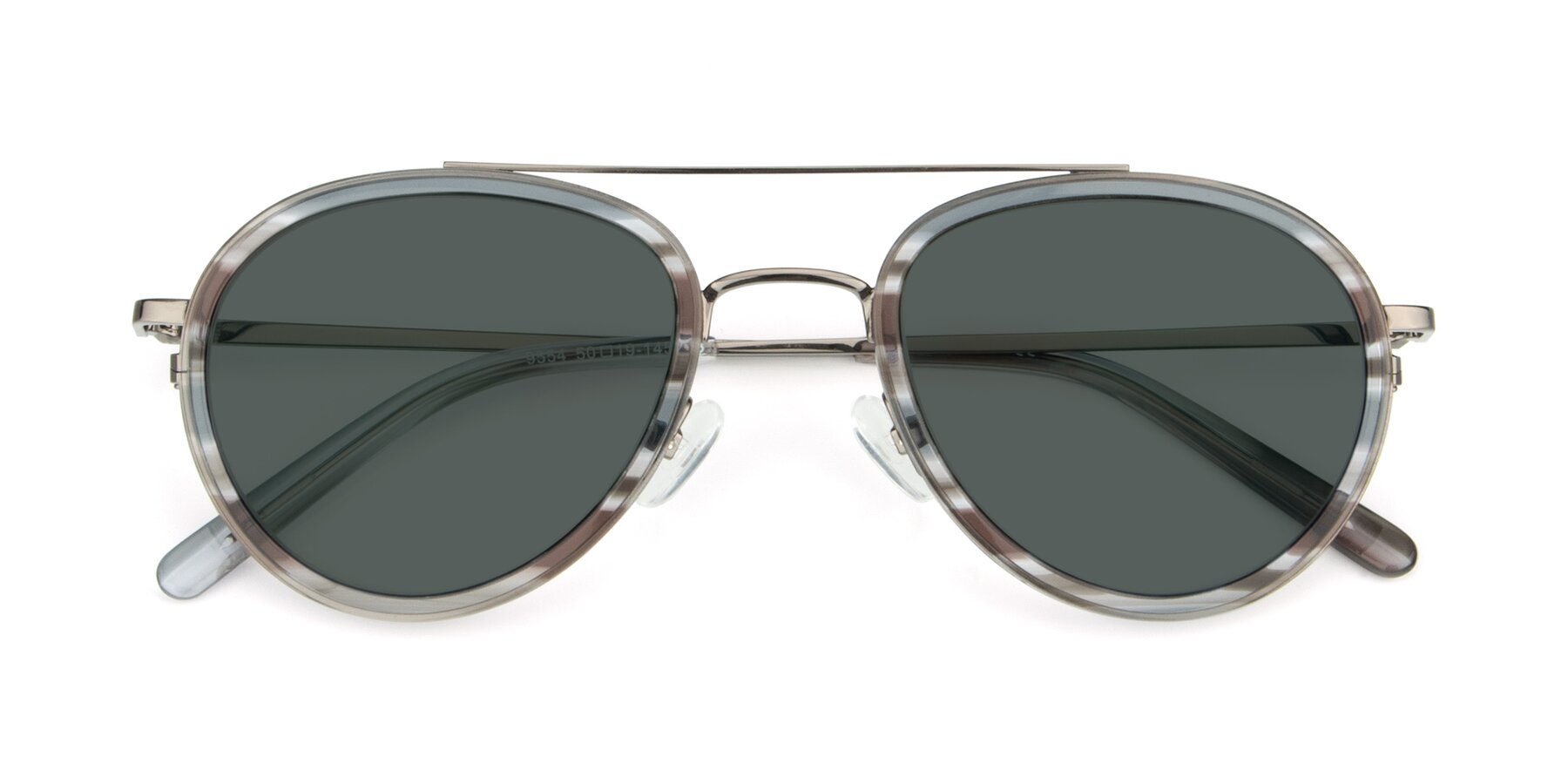Folded Front of 9554 in Gun-Transparent with Gray Polarized Lenses
