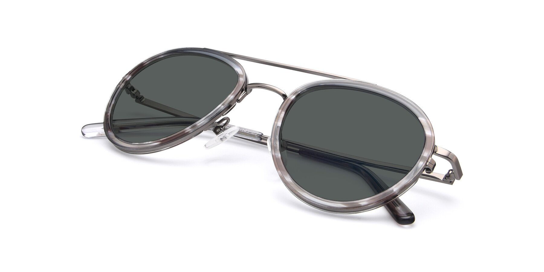 View of 9554 in Gun-Transparent with Gray Polarized Lenses