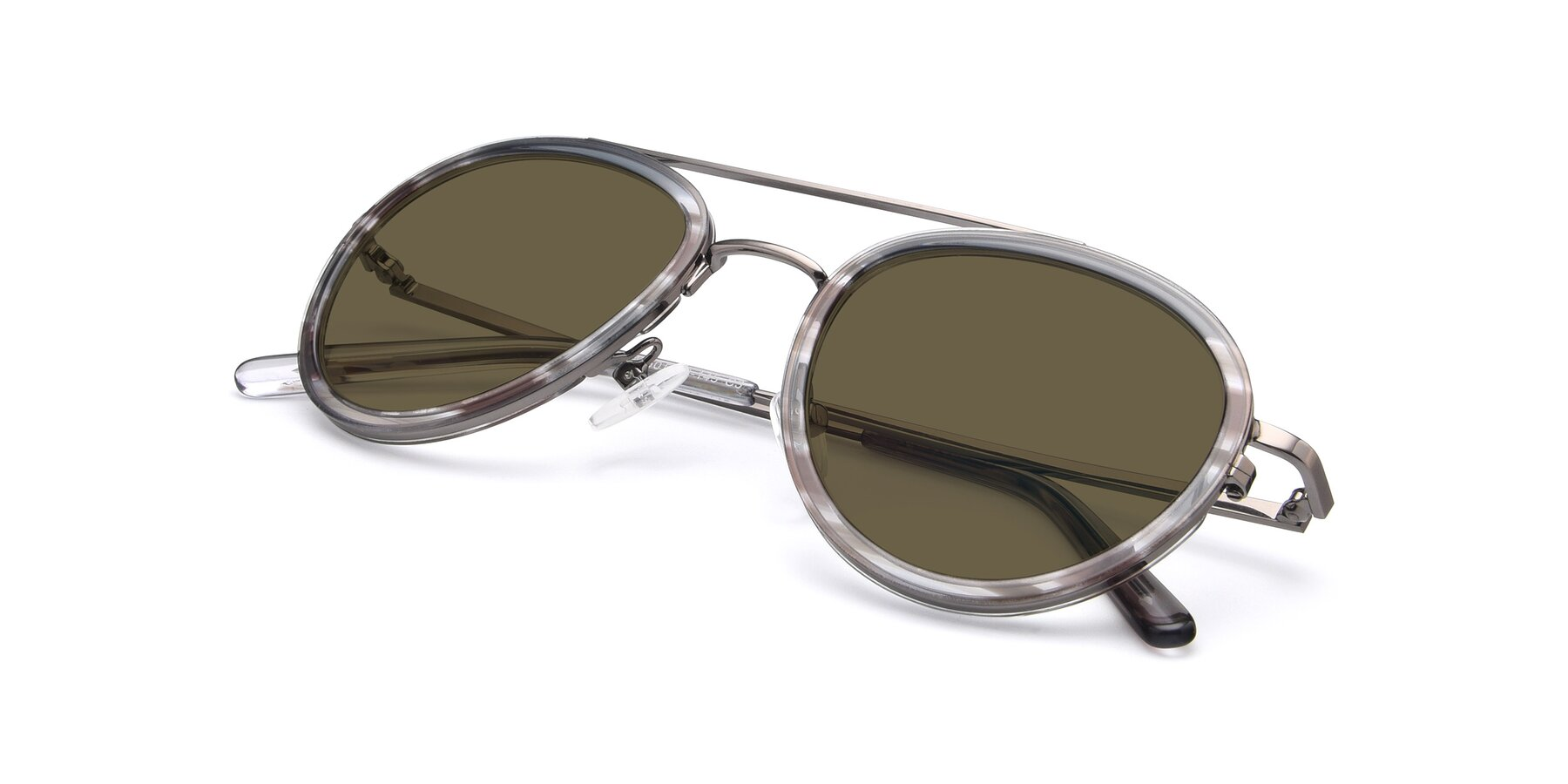 View of 9554 in Gun-Transparent with Brown Polarized Lenses