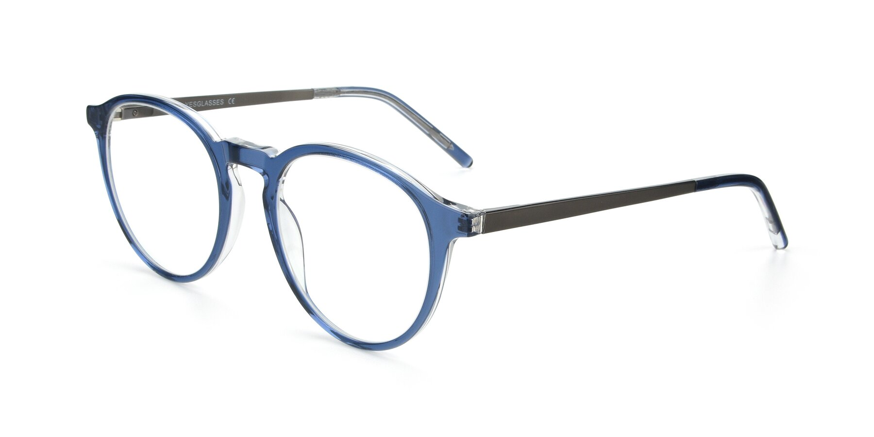 Angle of 17450 in Blue with Clear Eyeglass Lenses