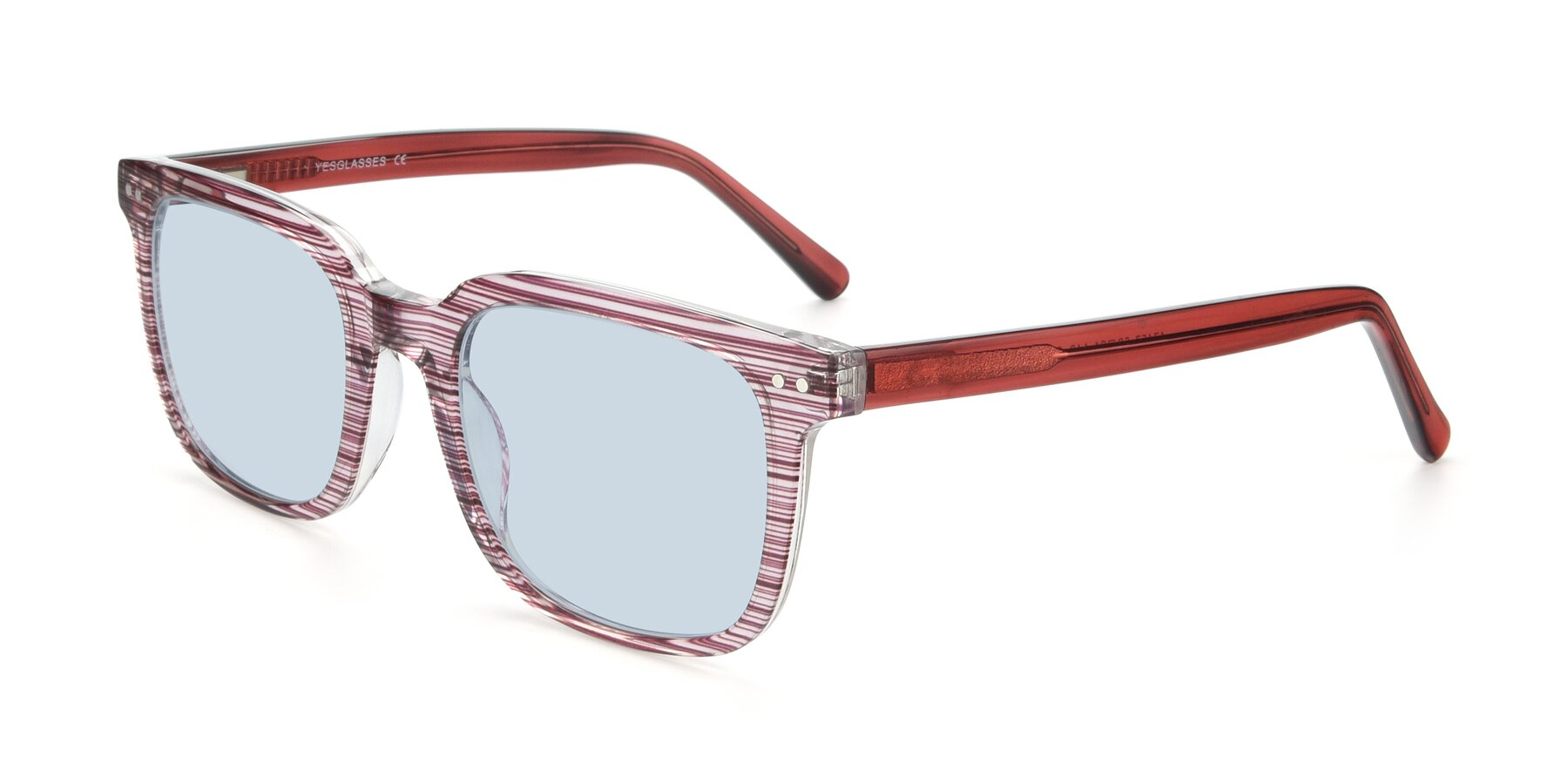 Angle of 17457 in Stripe Purple with Light Blue Tinted Lenses