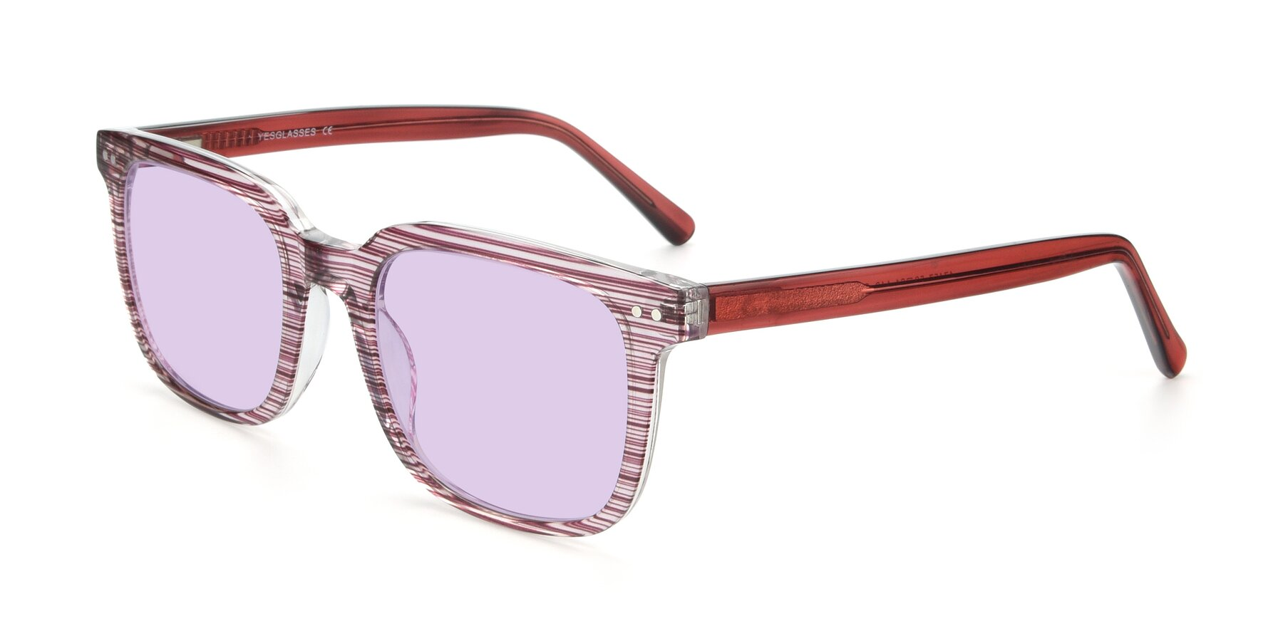 Angle of 17457 in Stripe Purple with Light Purple Tinted Lenses