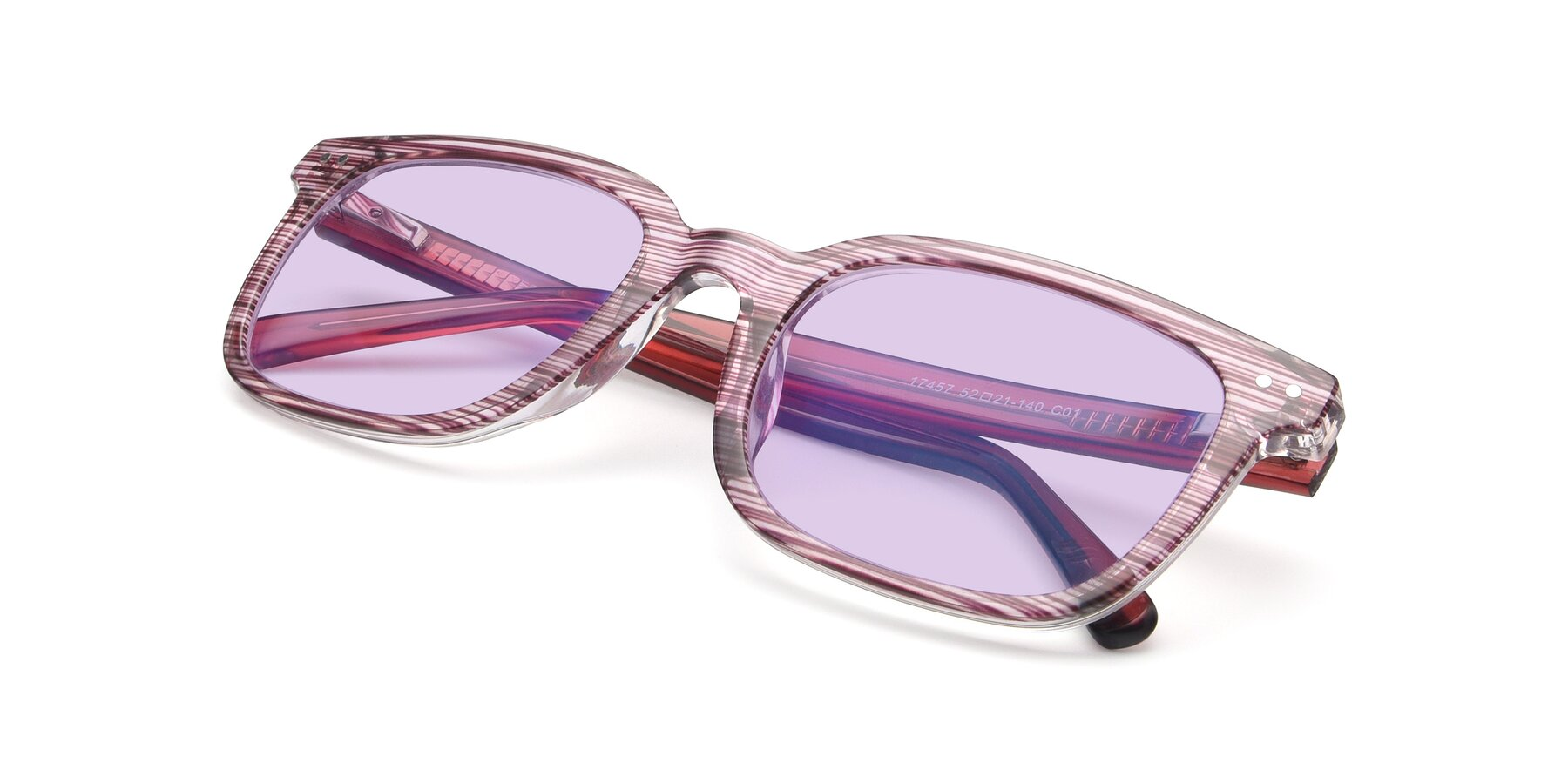 View of 17457 in Stripe Purple with Light Purple Tinted Lenses