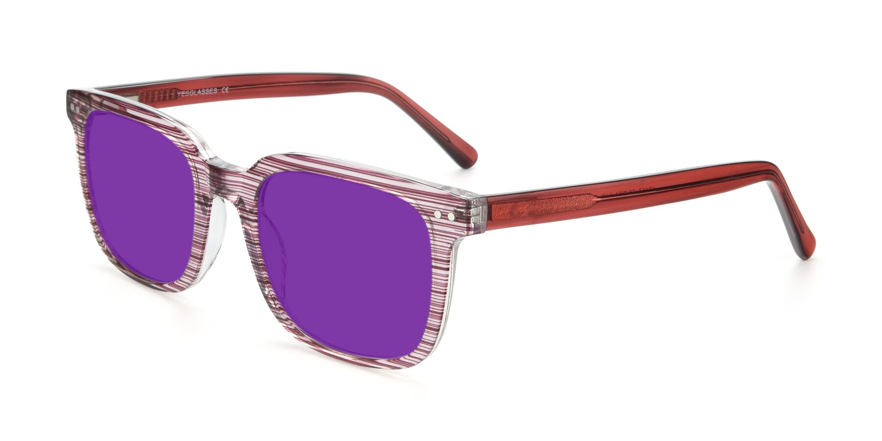 Angle of 17457 in Stripe Purple with Purple Tinted Lenses