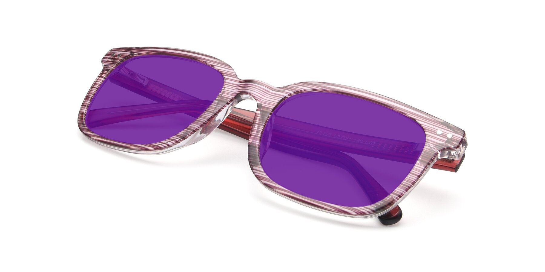 View of 17457 in Stripe Purple with Purple Tinted Lenses