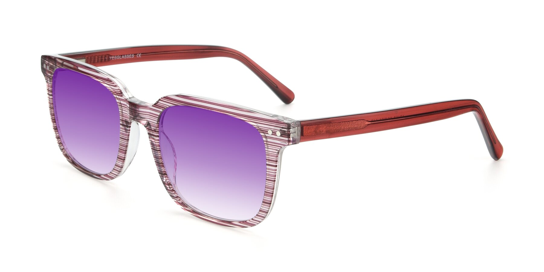 Angle of 17457 in Stripe Purple with Purple Gradient Lenses