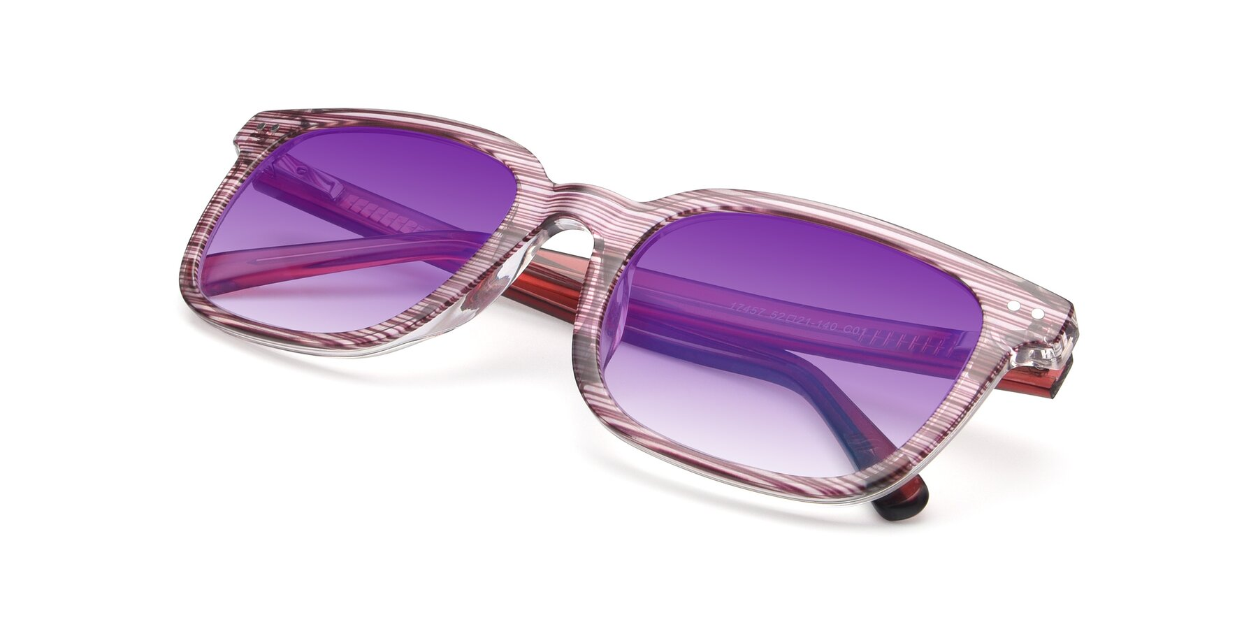 View of 17457 in Stripe Purple with Purple Gradient Lenses