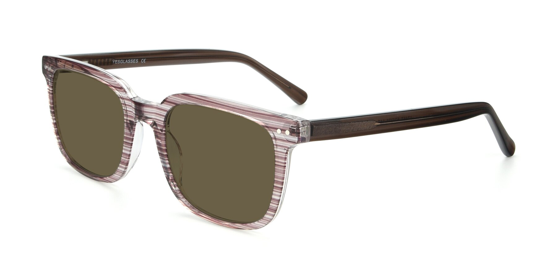 Angle of 17457 in Stripe Brown with Brown Polarized Lenses