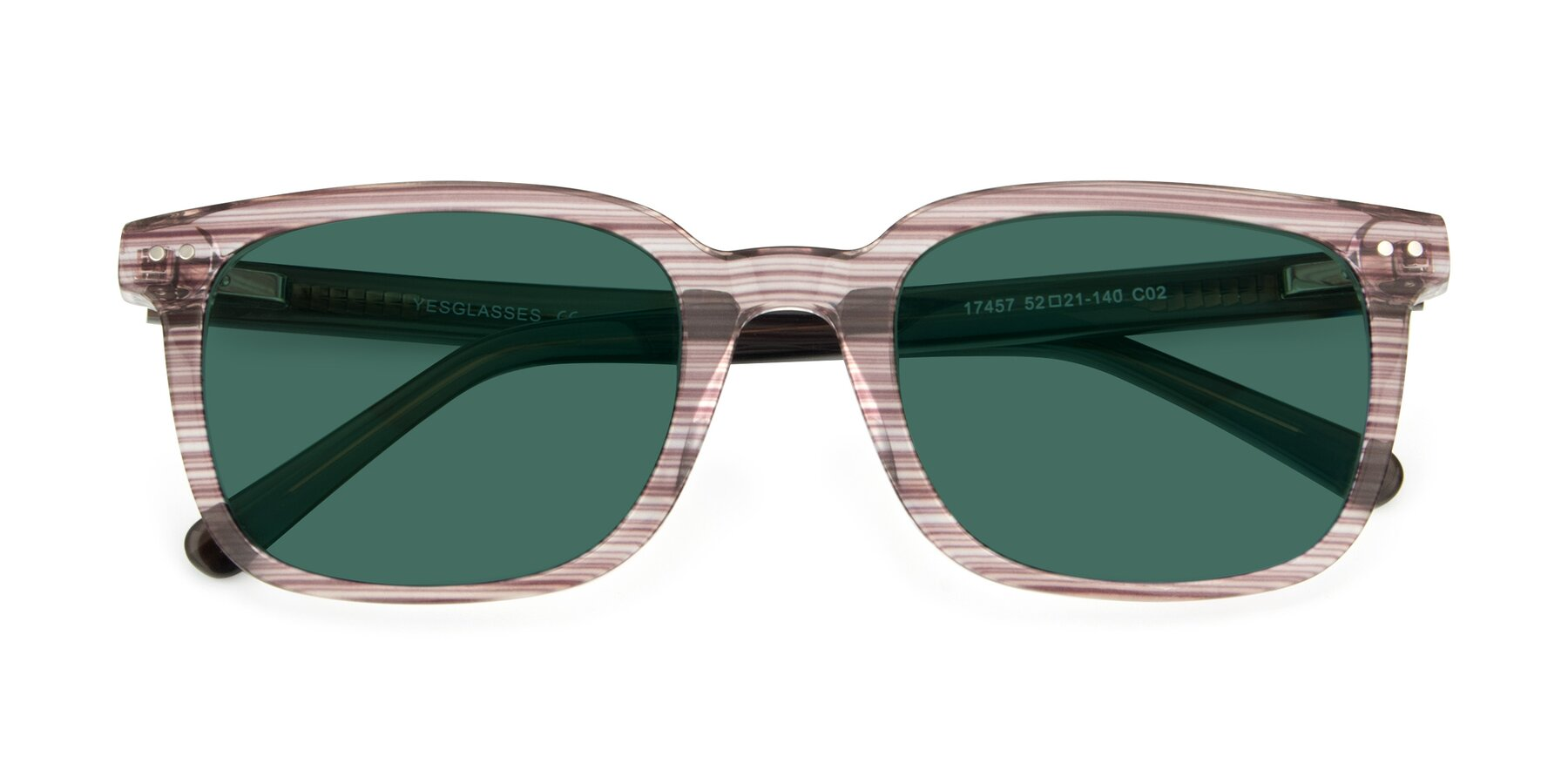 Folded Front of 17457 in Stripe Brown with Green Polarized Lenses