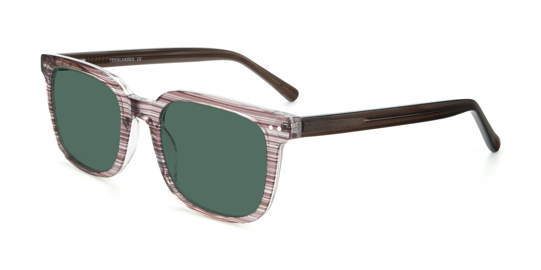 Angle of 17457 in Stripe Brown with Green Polarized Lenses