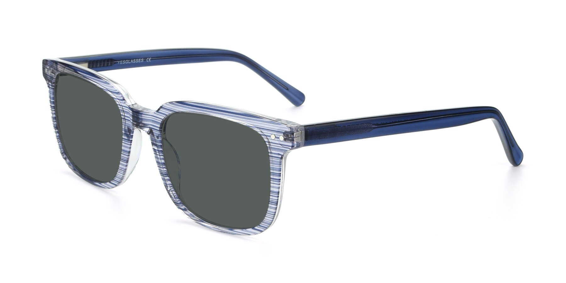 Angle of 17457 in Stripe Blue with Gray Polarized Lenses