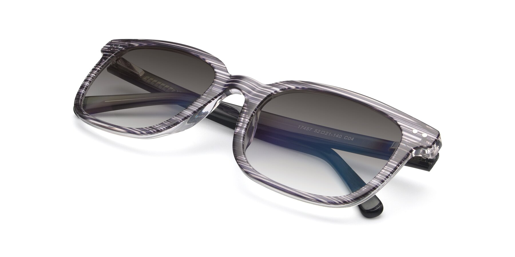View of 17457 in Stripe Coffee with Gray Gradient Lenses