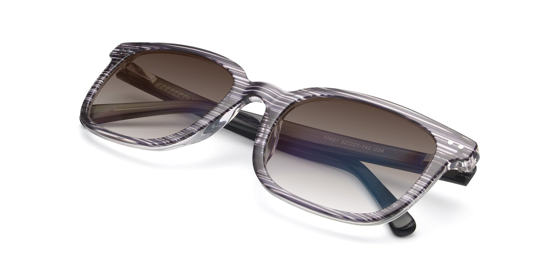 View of 17457 in Stripe Coffee with Brown Gradient Lenses
