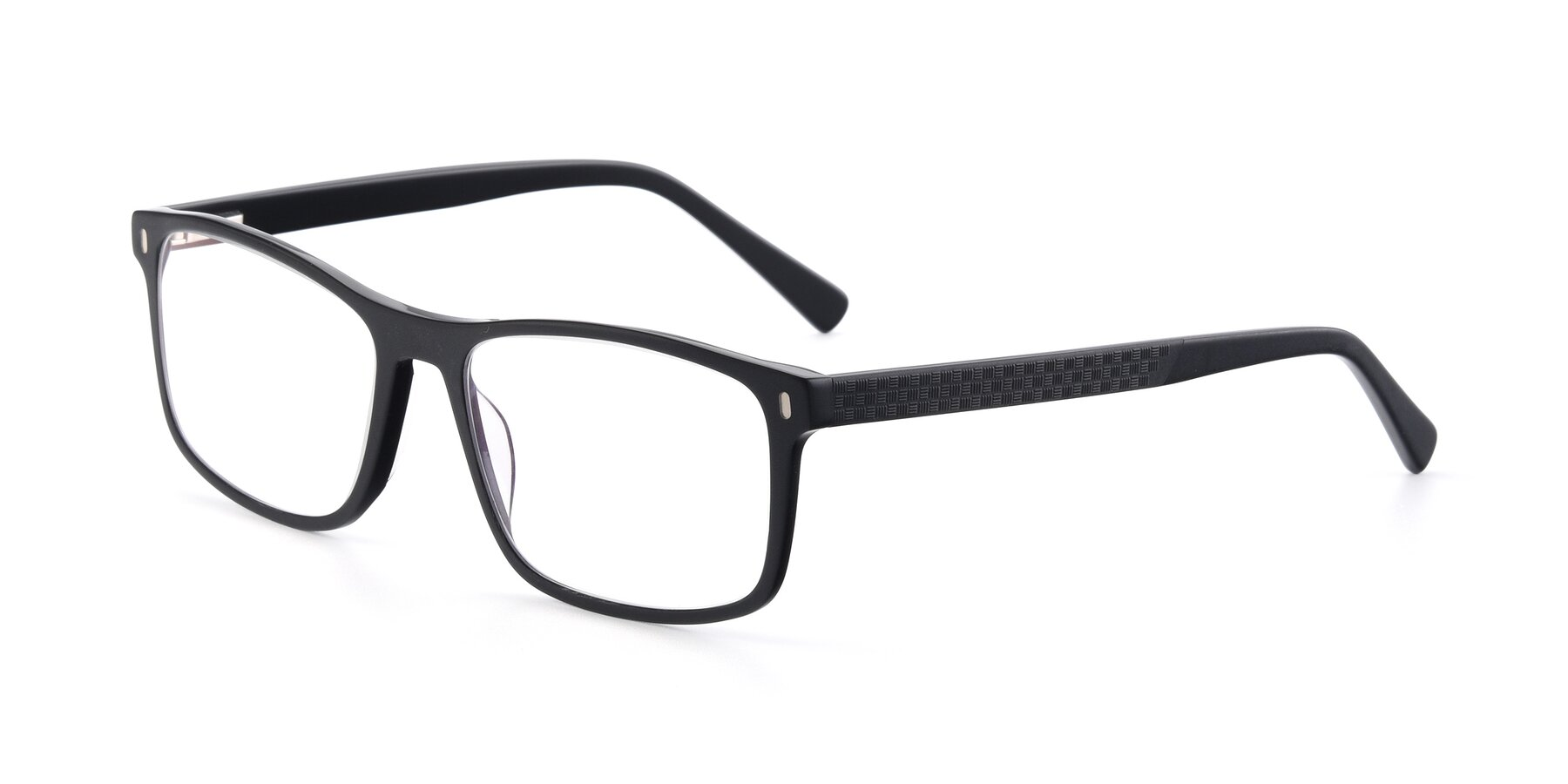 Angle of 17474 in Black with Clear Blue Light Blocking Lenses