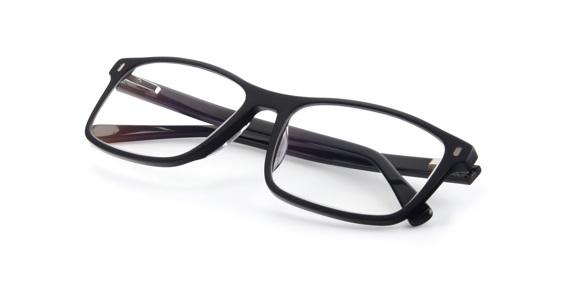 View of 17474 in Black with Clear Blue Light Blocking Lenses