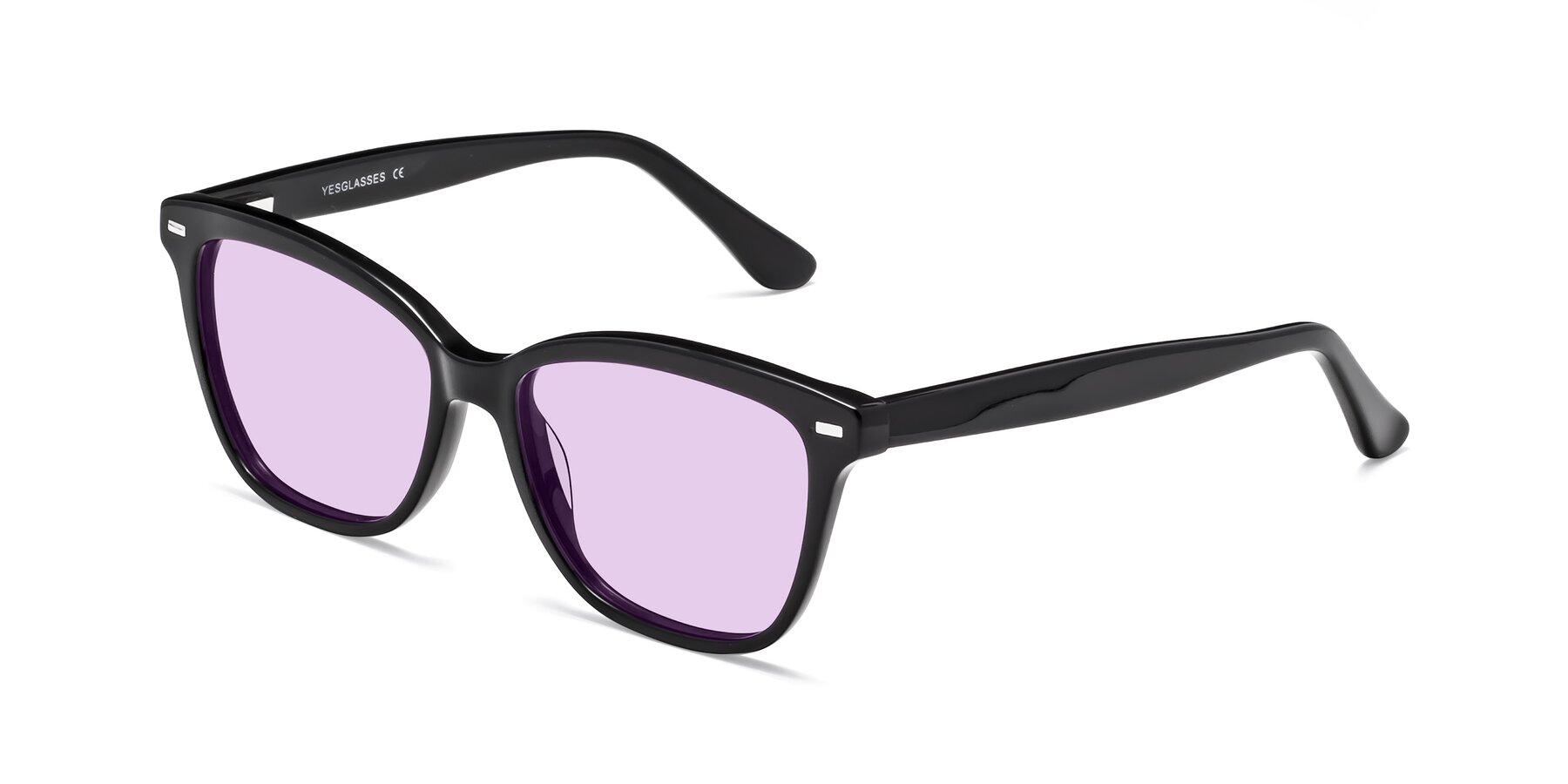 Angle of 17485 in Black with Light Purple Tinted Lenses