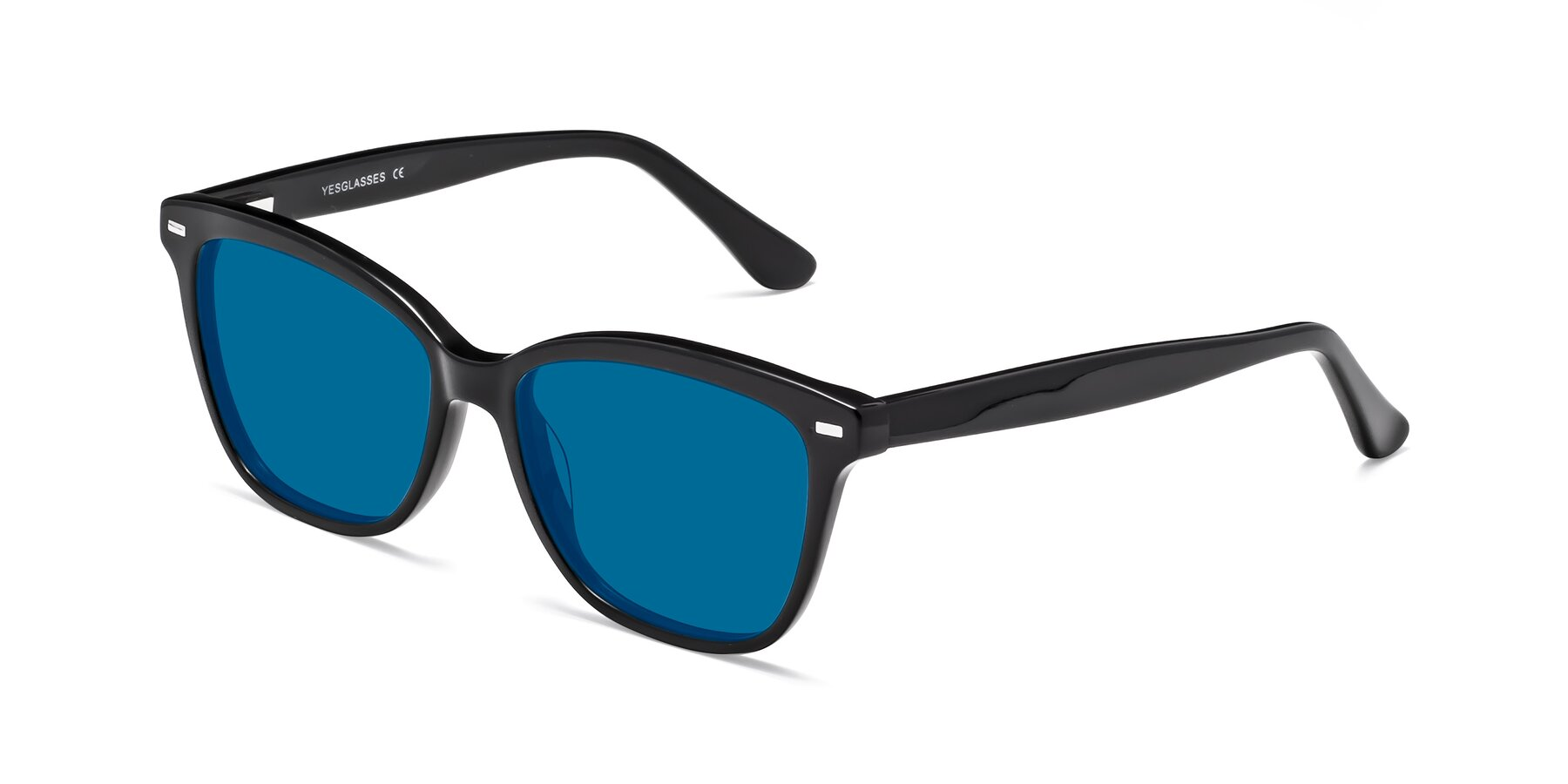 Angle of 17485 in Black with Blue Tinted Lenses