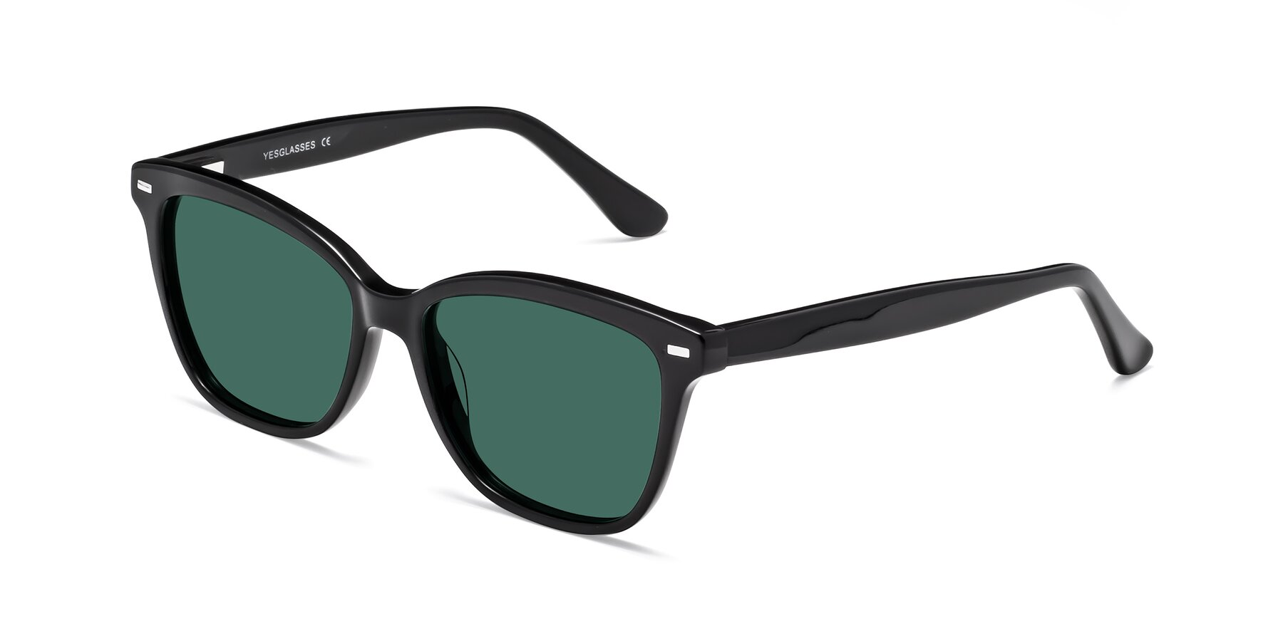 Angle of 17485 in Black with Green Polarized Lenses