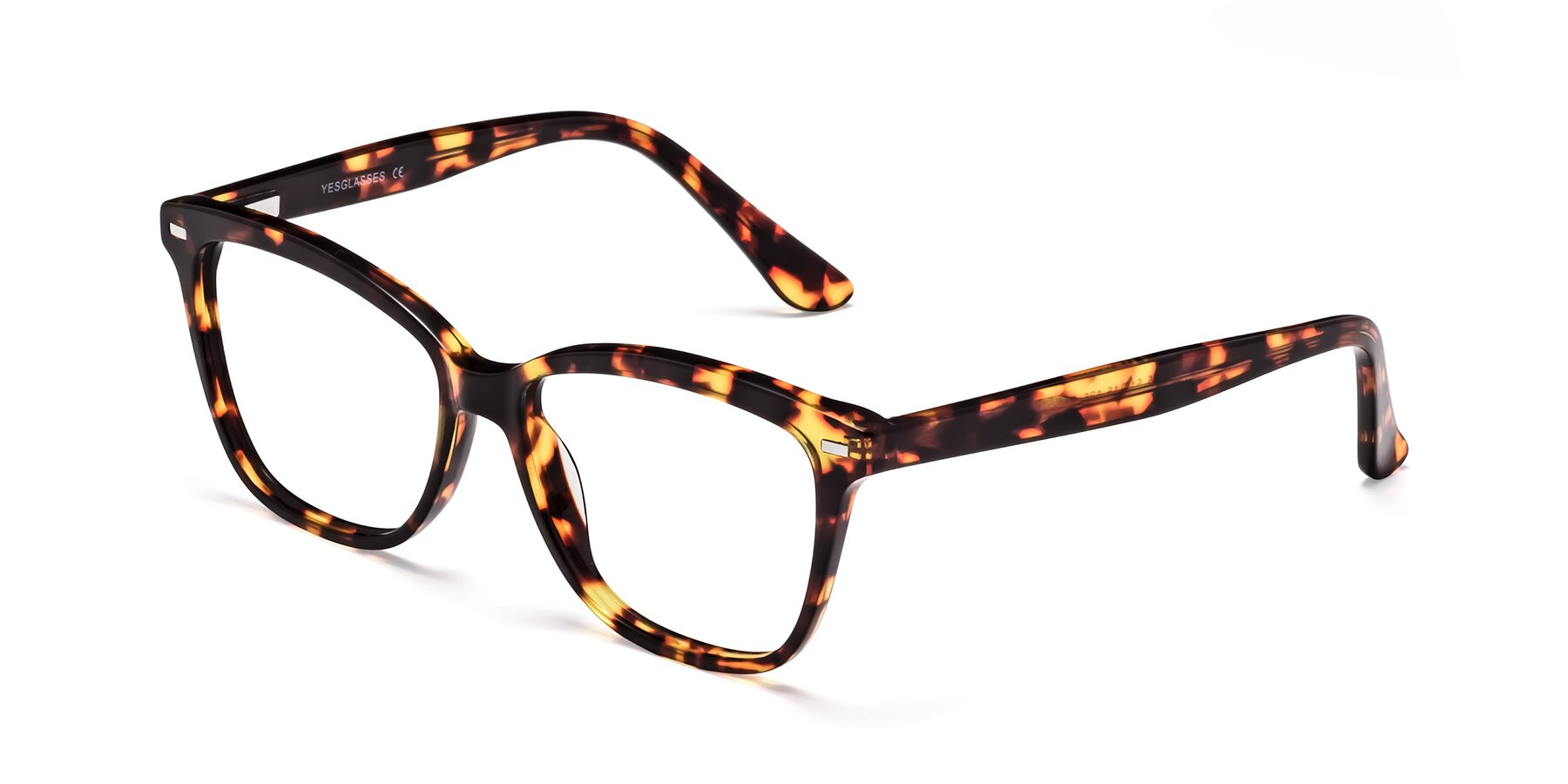 Angle of 17485 in Tortoise with Clear Eyeglass Lenses