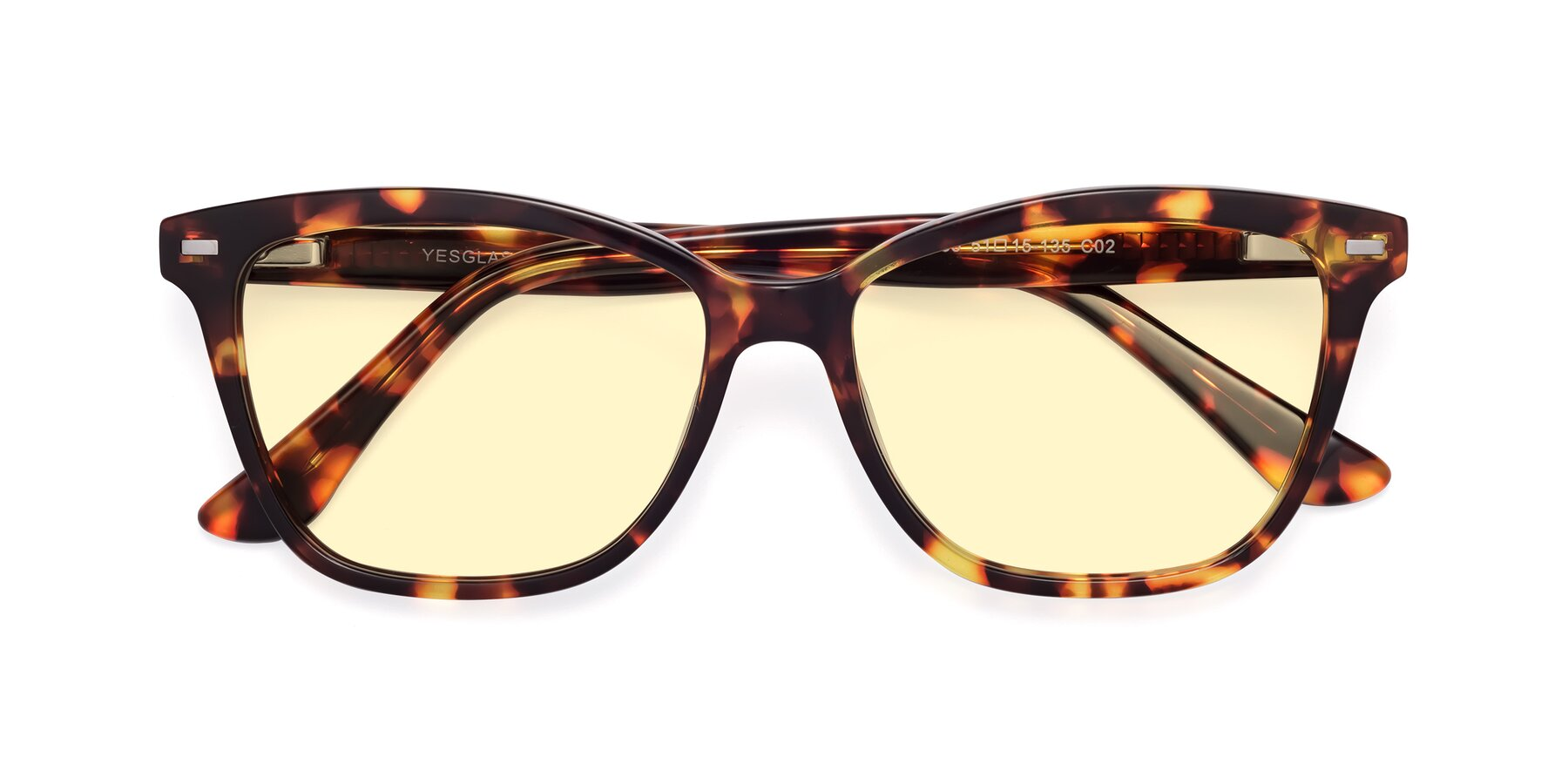 Folded Front of 17485 in Tortoise with Light Yellow Tinted Lenses