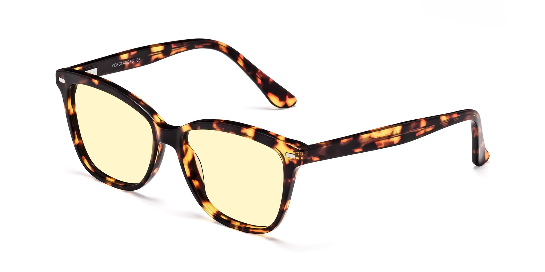 Angle of 17485 in Tortoise with Light Yellow Tinted Lenses