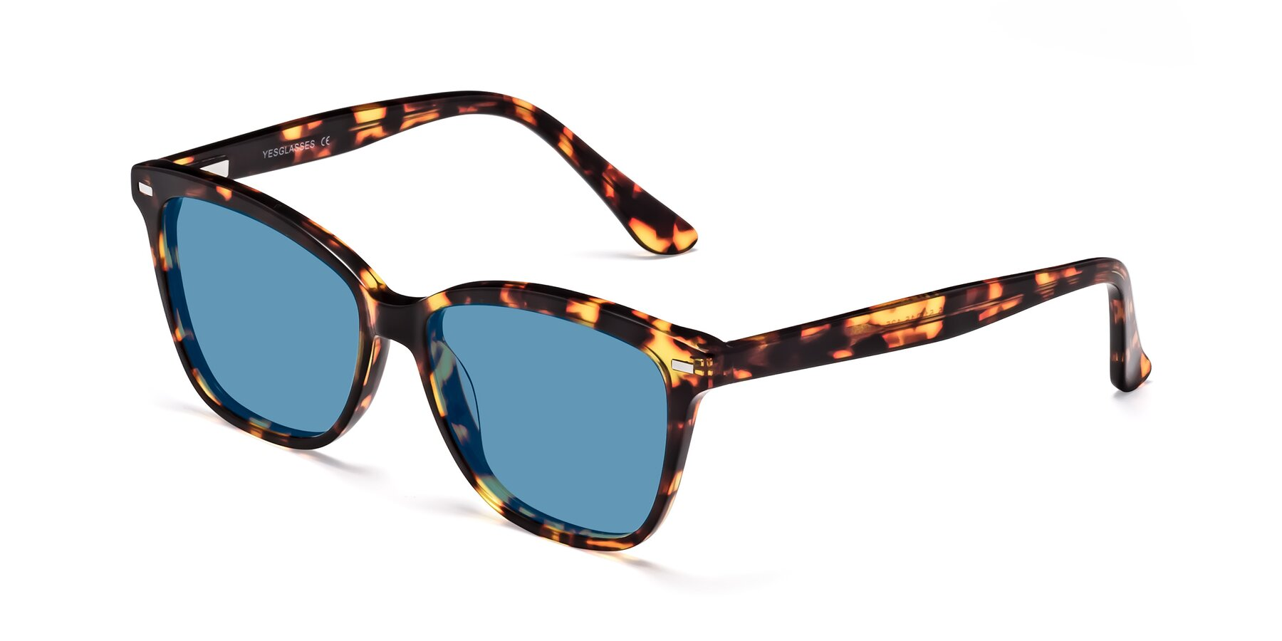 Angle of 17485 in Tortoise with Medium Blue Tinted Lenses