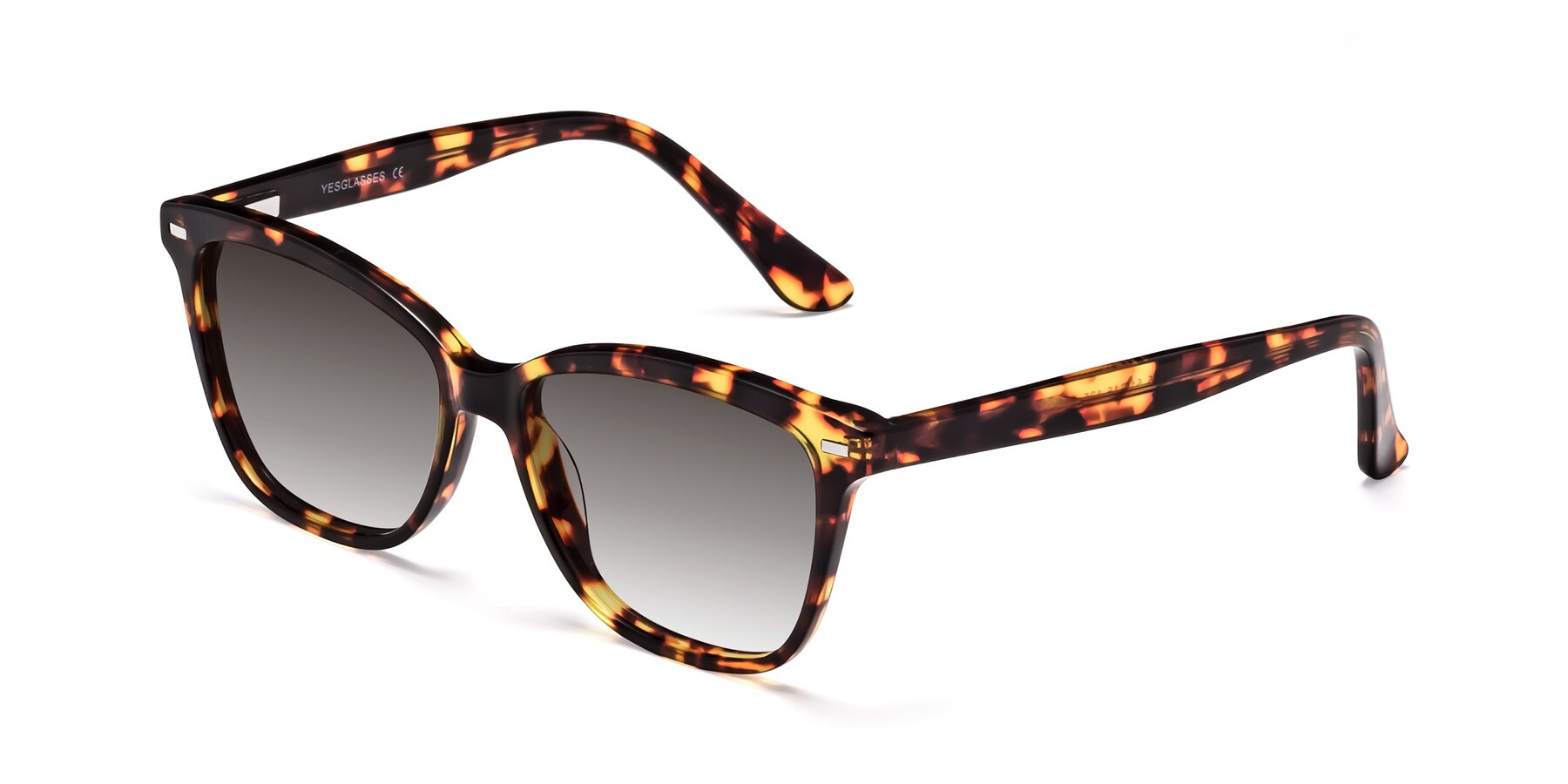 Angle of 17485 in Tortoise with Gray Gradient Lenses