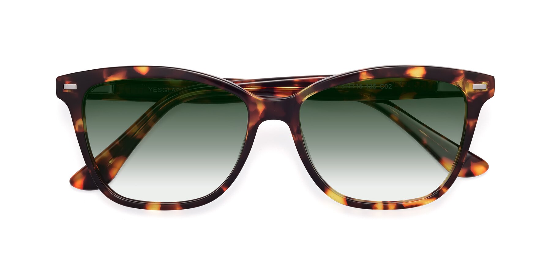 Folded Front of 17485 in Tortoise with Green Gradient Lenses
