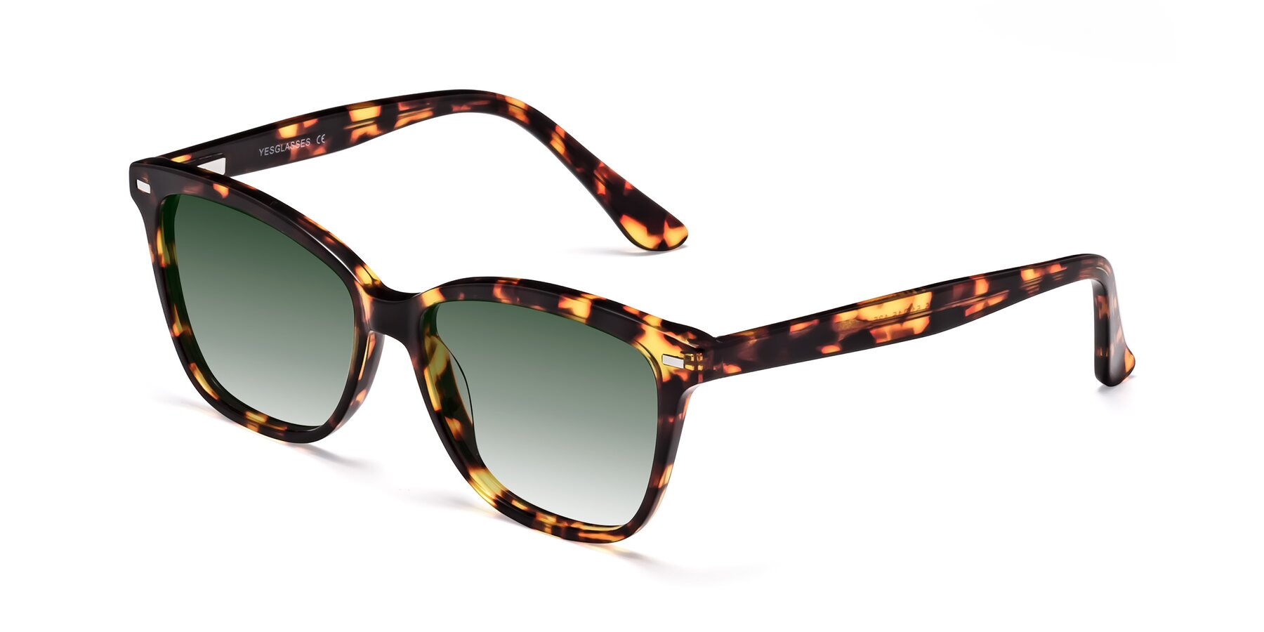 Angle of 17485 in Tortoise with Green Gradient Lenses